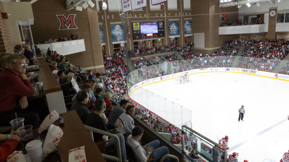 Looking for hockey action? Miami University is a proud member of the NHCC, a new superconference for NCAA Hockey. Attending a game is a must for any student, and tickets for all atheltic events are free to MU students.