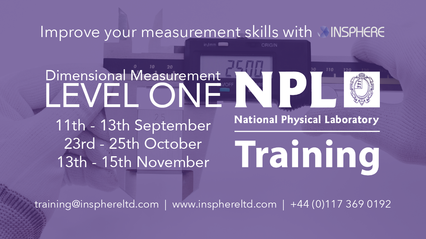 INSPHERE are formally accredited NPL Dimensional Measurement trainers. We regularly have open courses at our dedicated training facilities in the South West and can also deliver customer on-site training.