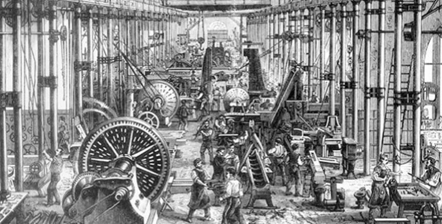 The First Industrial Revolution transformed manufacturing