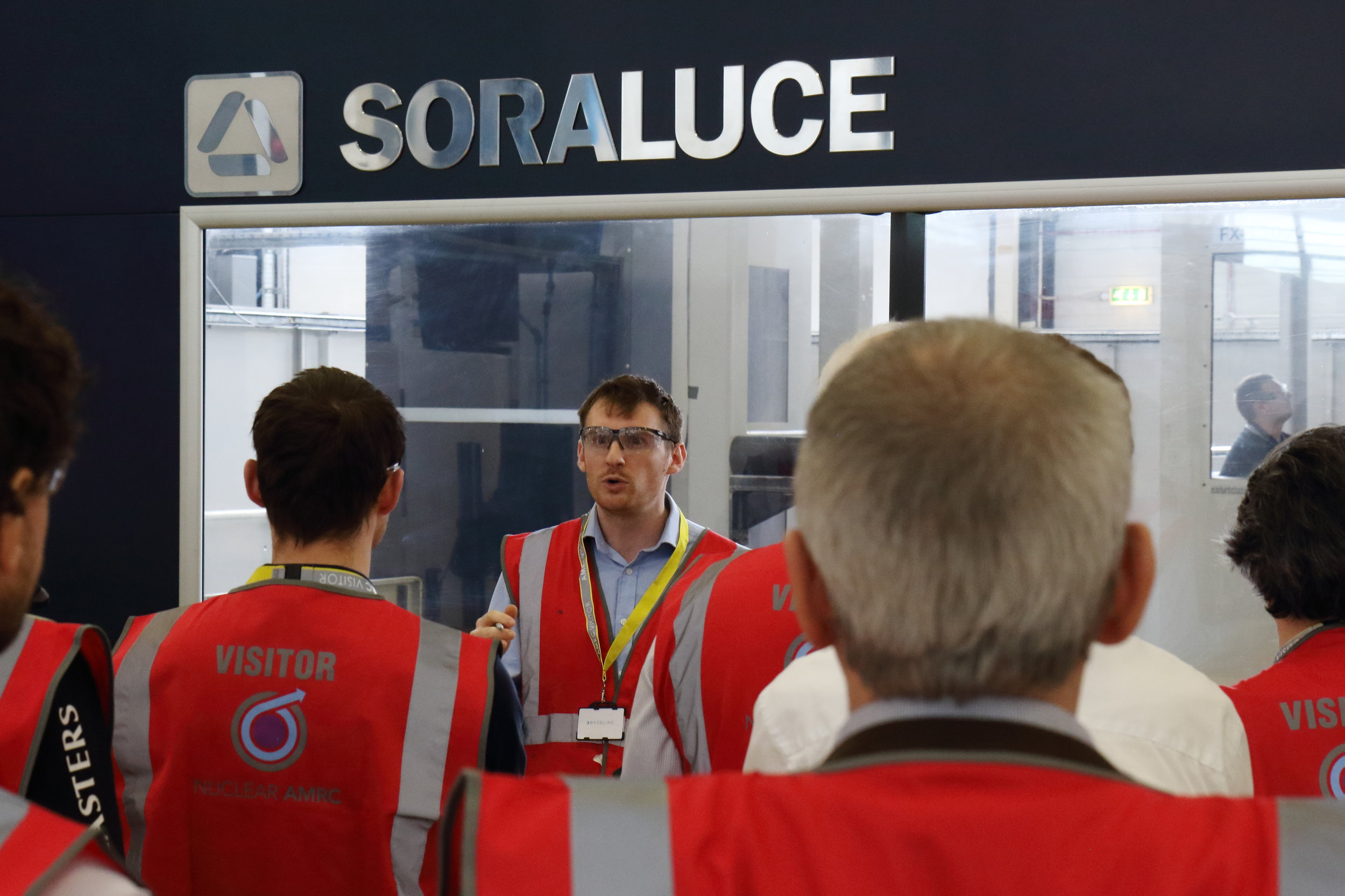 Metrology Engineer, Jon Sneller delivering a live demonstration of the BASELINE system created by INSPHERE at the Nuclear AMRC in March.