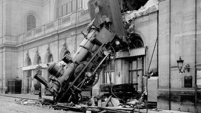 The Montparnasse derailment, 1895.