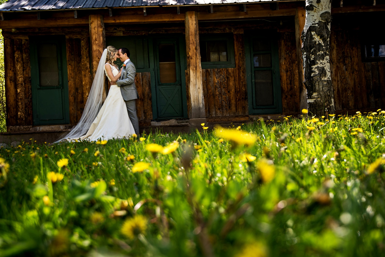 Ranch wedding at Perry-Mansfield in Steamboat Springs, Colorado.