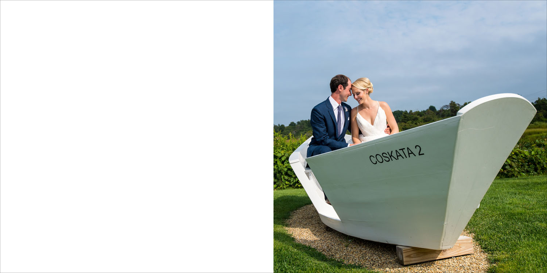 Wedding album design from Megan and Seth's Nantucket Island wedding photography.
