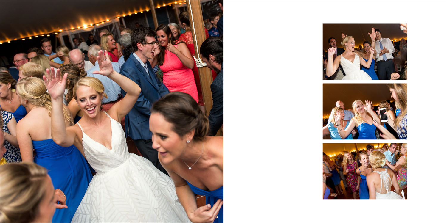 Wedding album design from Megan and Seth's Nantucket Island wedding photography.