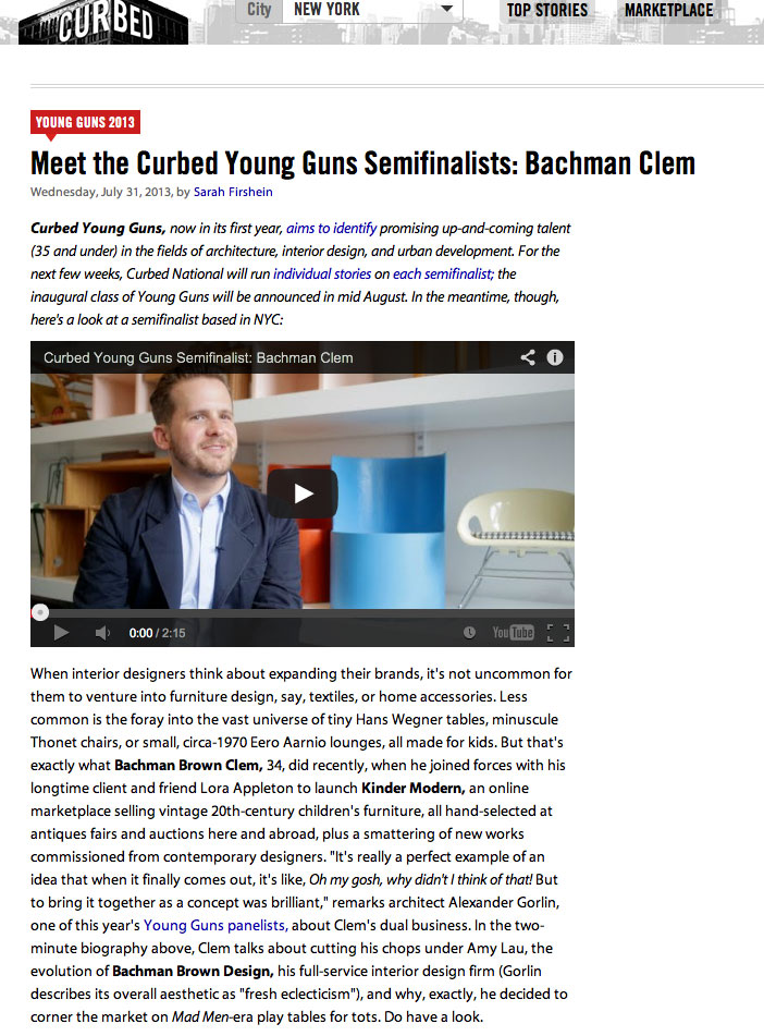 Curbed Young Guns 2013 Semifinalist