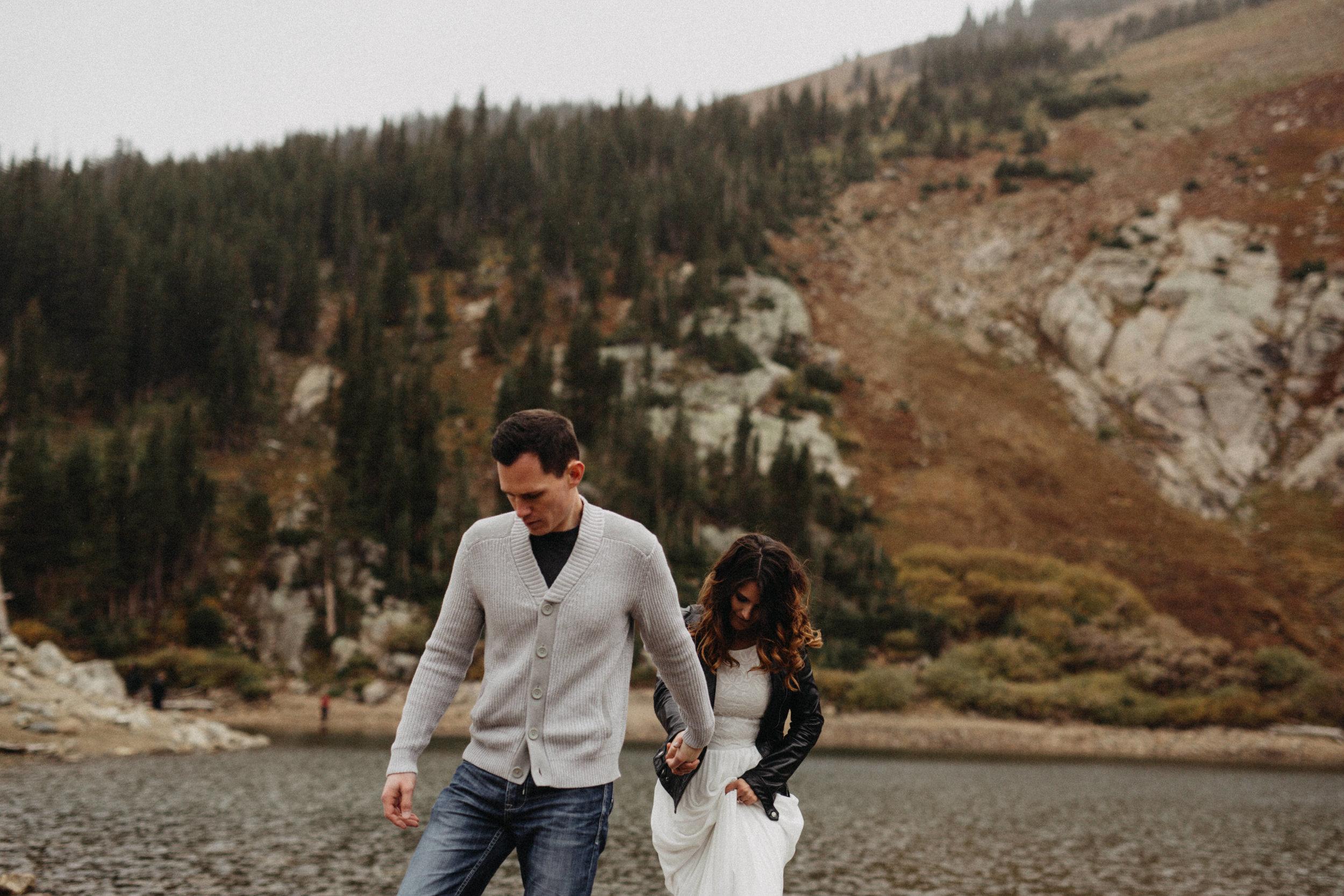 Destination Wedding Photography, Saint Mary's Glacier, Colorado
