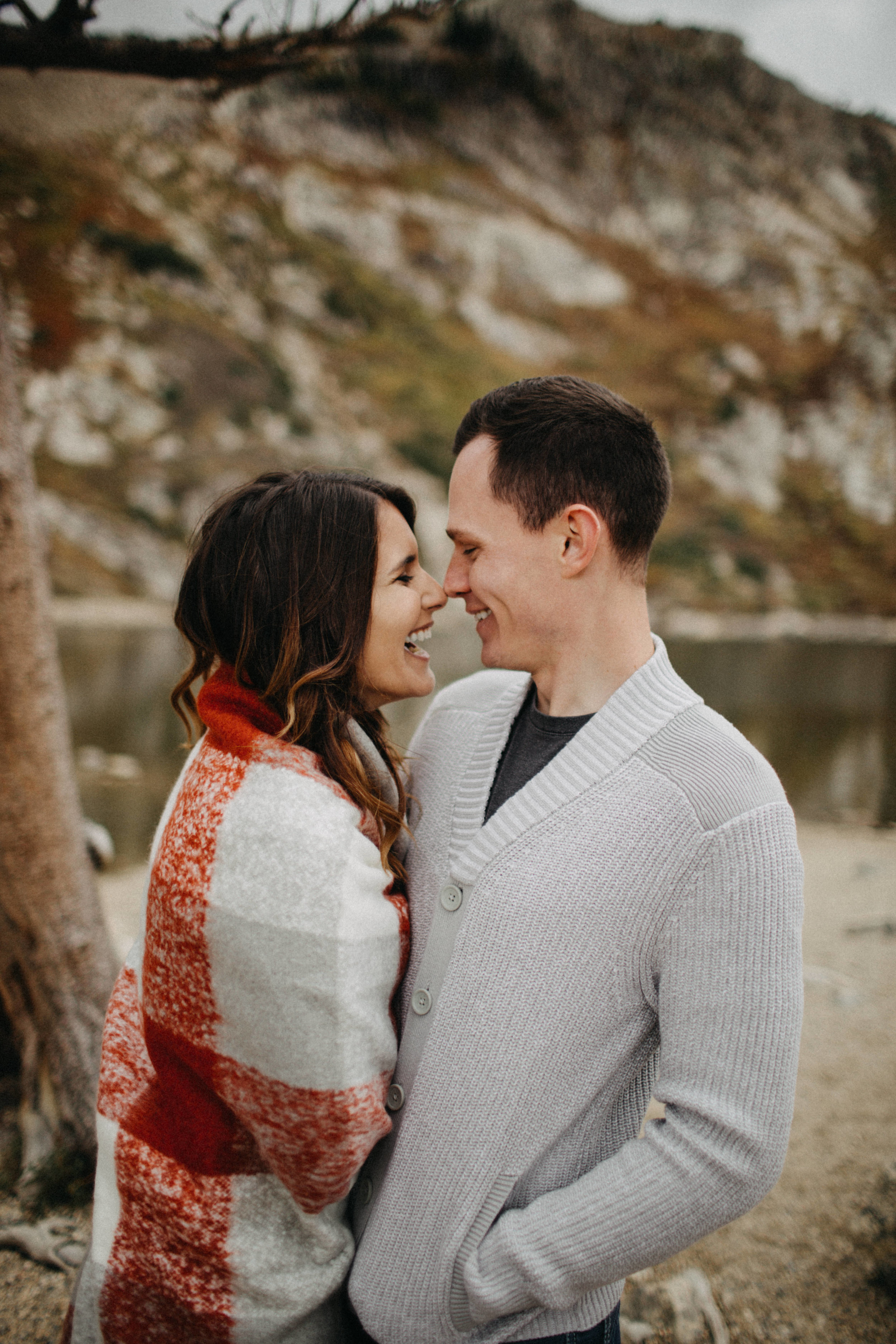 Candid Engagement Photography in Saint Mary's Glacier, Colorado
