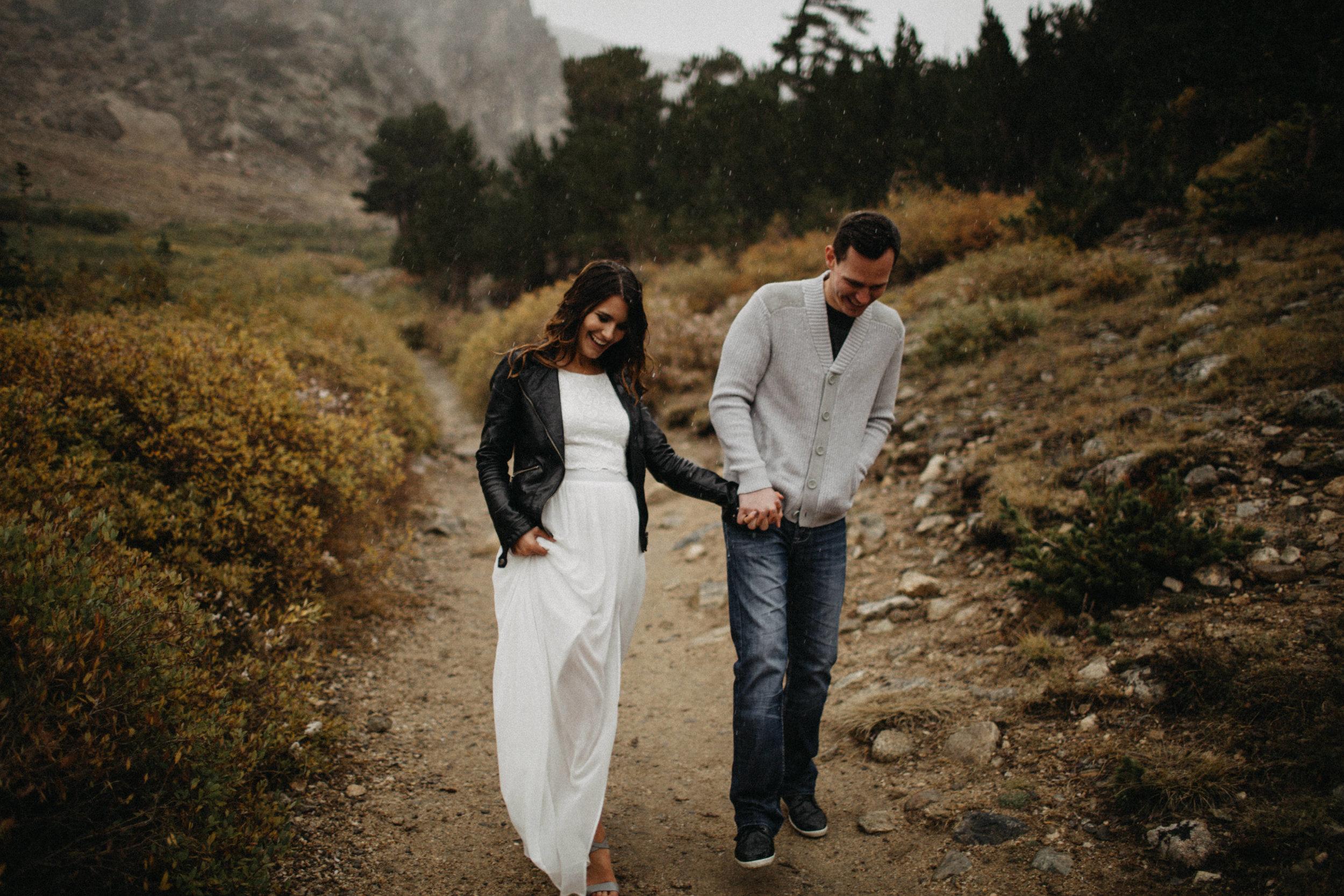 Edgy Destination Wedding Photography in Saint Mary's Glacier, Colorado
