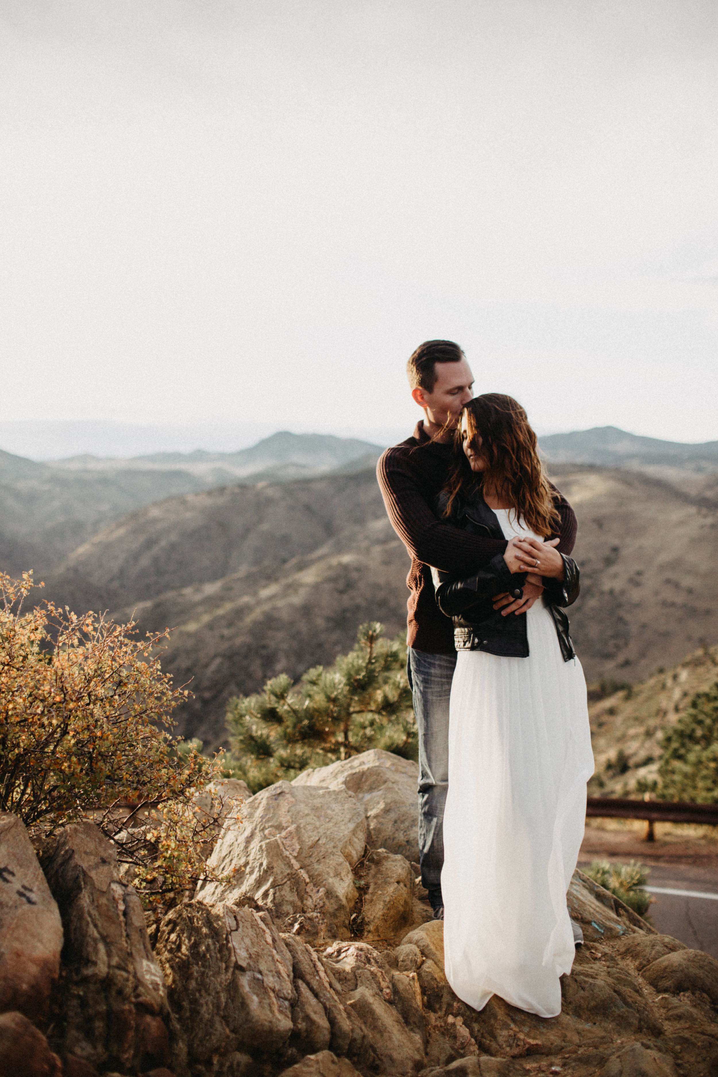 Adventure Engagement Photography at Lookout Mountain, Colorado