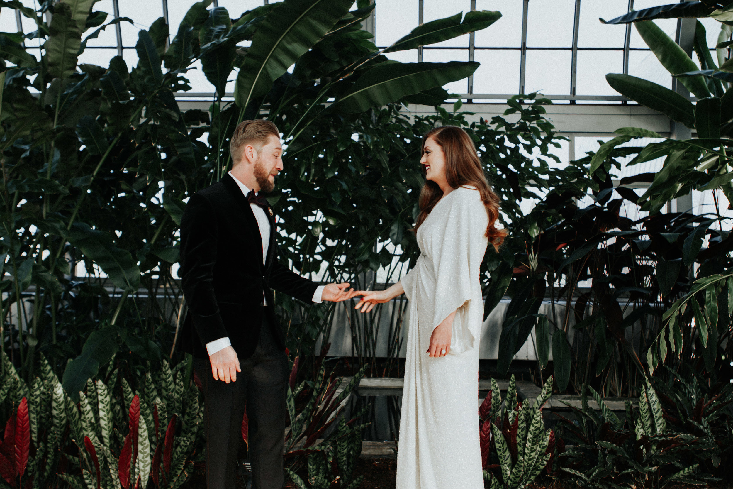 Garfield Park Conservatory intimate wedding photographer