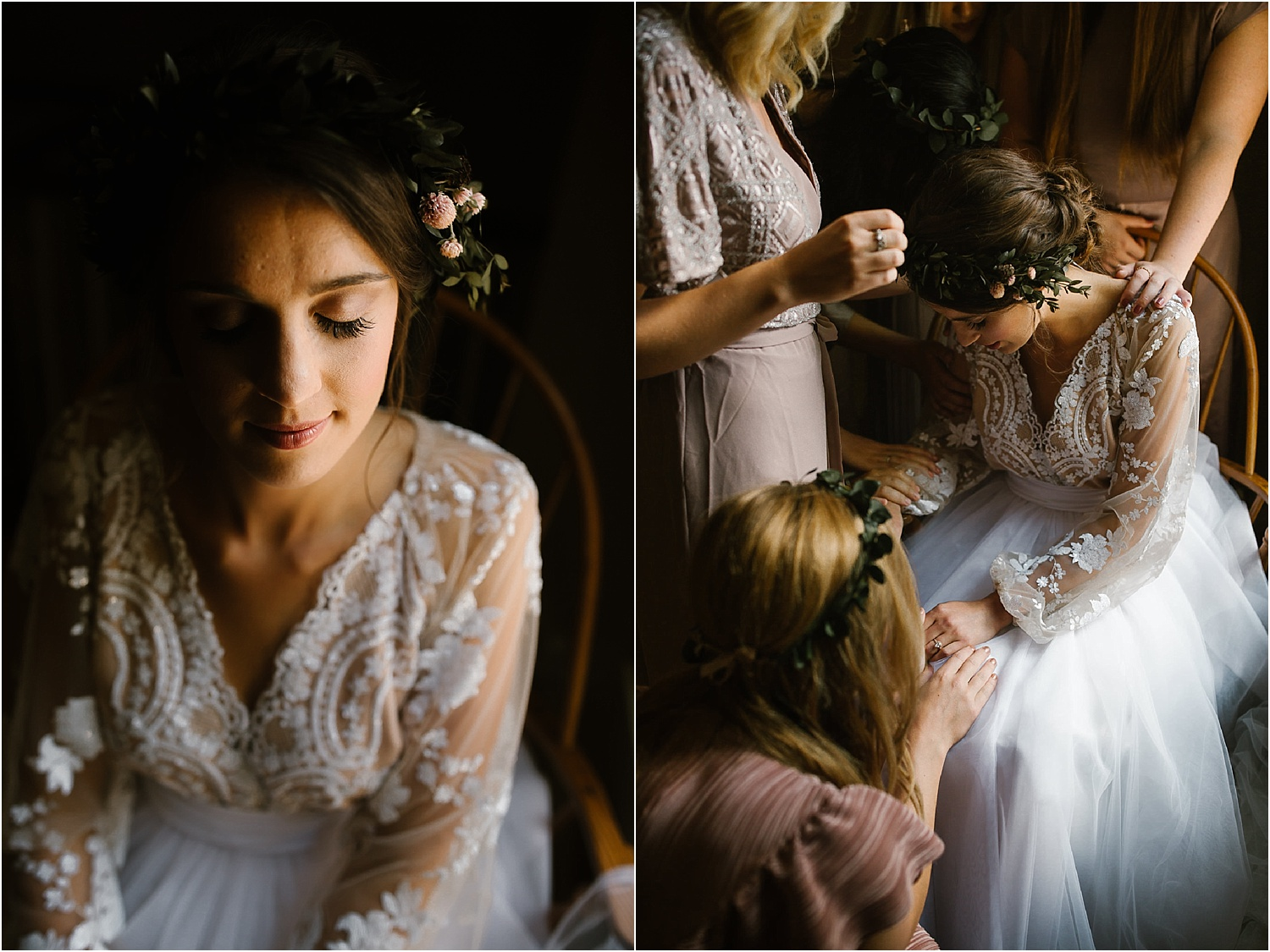 scarlet oakes estate bohemian wedding inspiration lace sleeves and tulle skirt.jpg