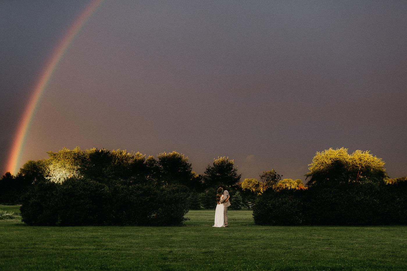 Rainy spring day wedding in Dayton, Ohio -