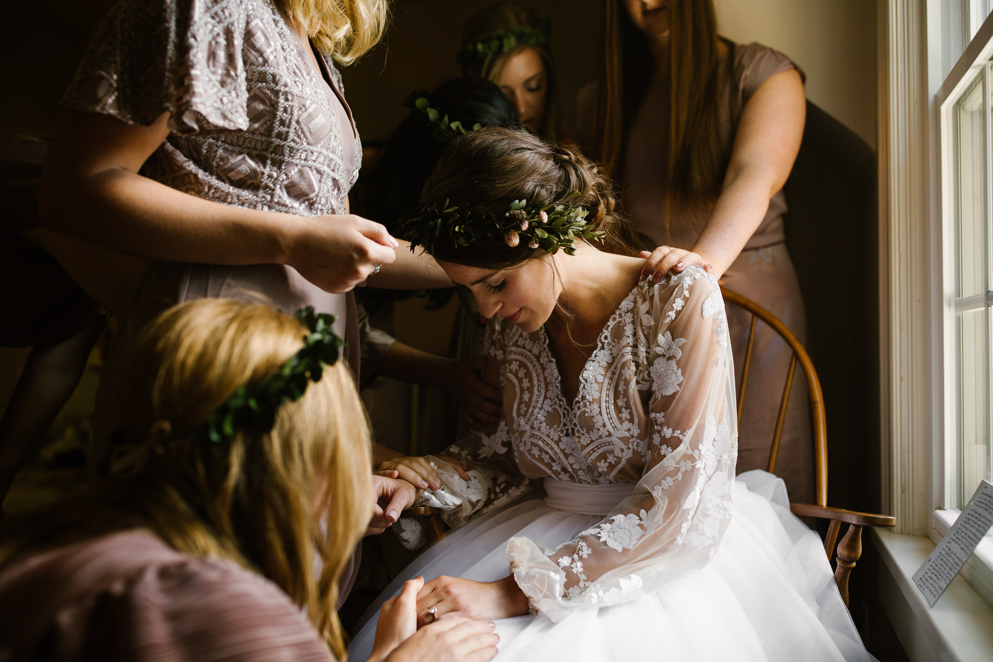 Bohemian wedding at Scarlet Oaks Estate in Findlay, Ohio -
