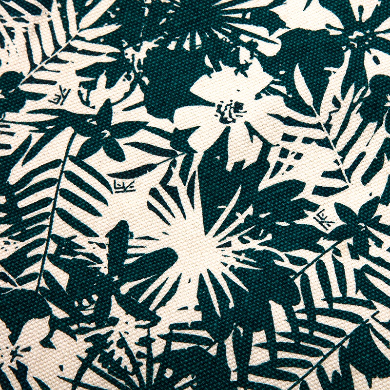 Soft hand-printed floral design