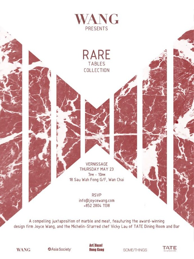 EVENT: JOYCE WANG INTERIORS RARE TABLES COLLECTION VERNISSAGE, WITH CHEF VICKY LAU OF TATE DINING ROOM AND BAR, DURING ART BASEL HONG KONG