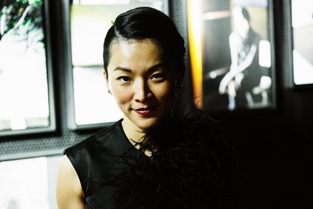 STYLIST AND WRITER TINA LEUNG DURING THE GUIDI COMMUNITY PROJECT [PRODUCED BY SOME/THINGS AGENCY] PRIVATE LAUNCH EVENT AT DAVID LYNCH'S CLUB SILENCIO IN PARIS, PHOTOGRAPHED BY ALEXEY BLAGUTIN, SOME/THINGS AGENCY