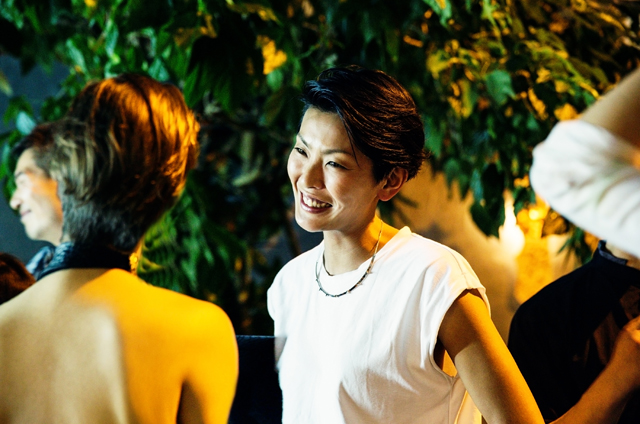 MODEL REN OGATA WITH SOME/THINGS CREATIVE DIRECTOR MONIKA BIELSKYTE AT THE JOYCE WANG INTERIORS RARE TABLES COLLECTION LAUNCH EVENT IN COLLABORATION ASIA SOCIETY HONG KONG & SOME/THINGS, PHOTOGRAPHED BY ALEXEY BLAGUTIN, SOME/THINGS AGENCY