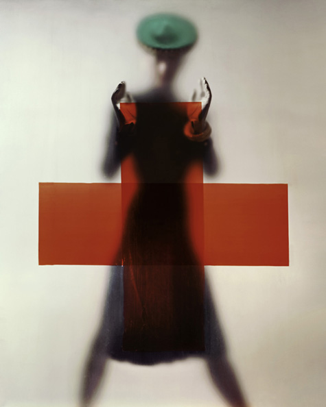 """erwin blumenfeld, variation on the cover photograph of vogue us, """"do your part for the red cross"""", march 15th, 1945, ink jet printing on canson baryta paper, posthumous print (2012), collection henry blumenfeld © the estate of erwin blumenfeld"""
