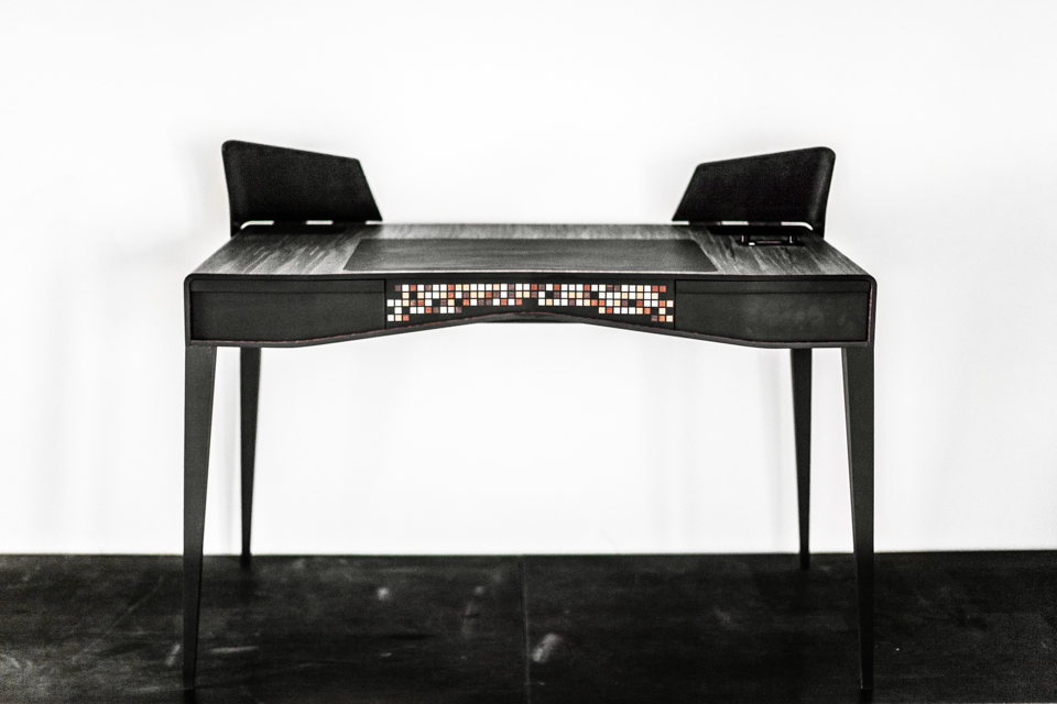iotal element x S/T echo hifi art desk by matteo carcelli | SOME/THINGS S/TUDIO    exclusive LIMITE/DITION with dark wood and specific material to be announced soon