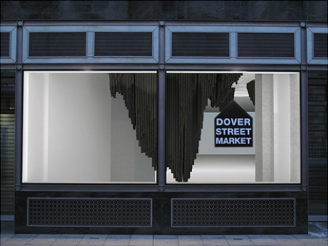 damir doma x dover street market london x diplomates, installation by diplomates, built with benjamin ferauge, jean panien & matthieu prat, photography by dickon bowden