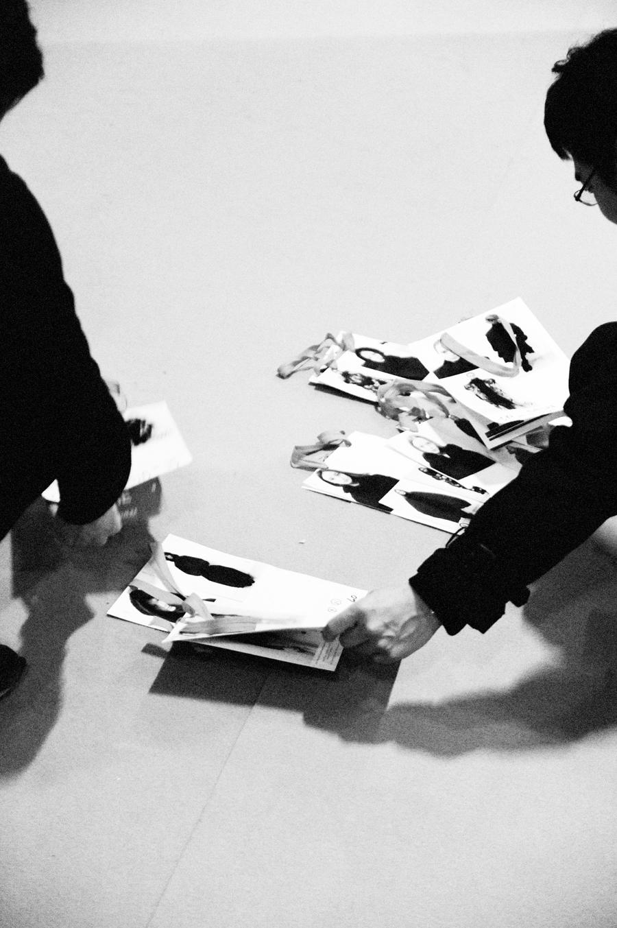 yohji yamamoto women's fall/winter 2014-15 backstage by elise toide   S/TUDIO