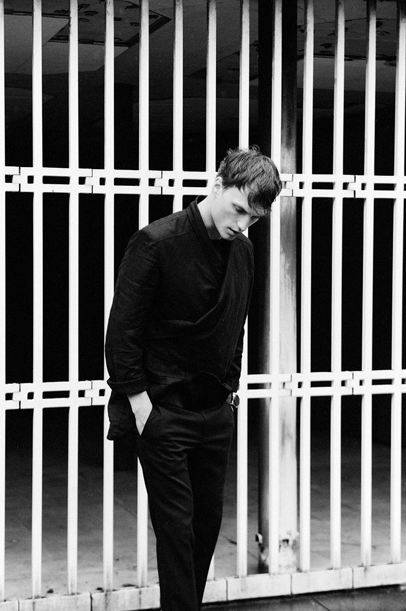 jacket Thomas Demess t-shirt Dior Hommetrousers Kris Van Assche socks Falke shoes Dior Homme watch Fob Paris