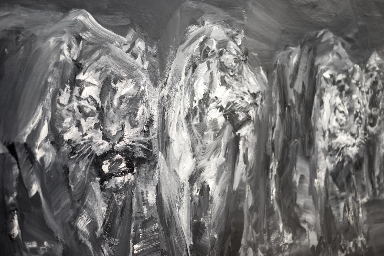 yan pei ming 'cinq tigres' at galerie thaddeus ropac photography james cheng tan   S/TUDIO