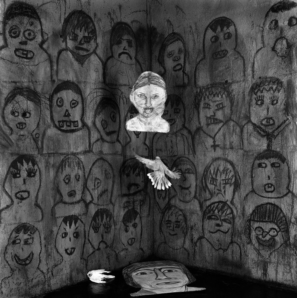 """Audience. From the series """"Asylum of the Birds"""" © Roger Ballen"""