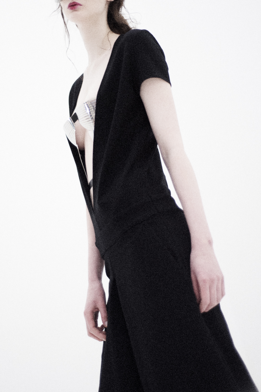 jumpsuit Minimal To, metal corset Design Digest