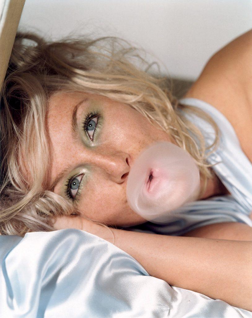 Bettina Rheims - Close up of Anne Pedersen doing a strange bubble - 1996 Paris - Xippas Galleries