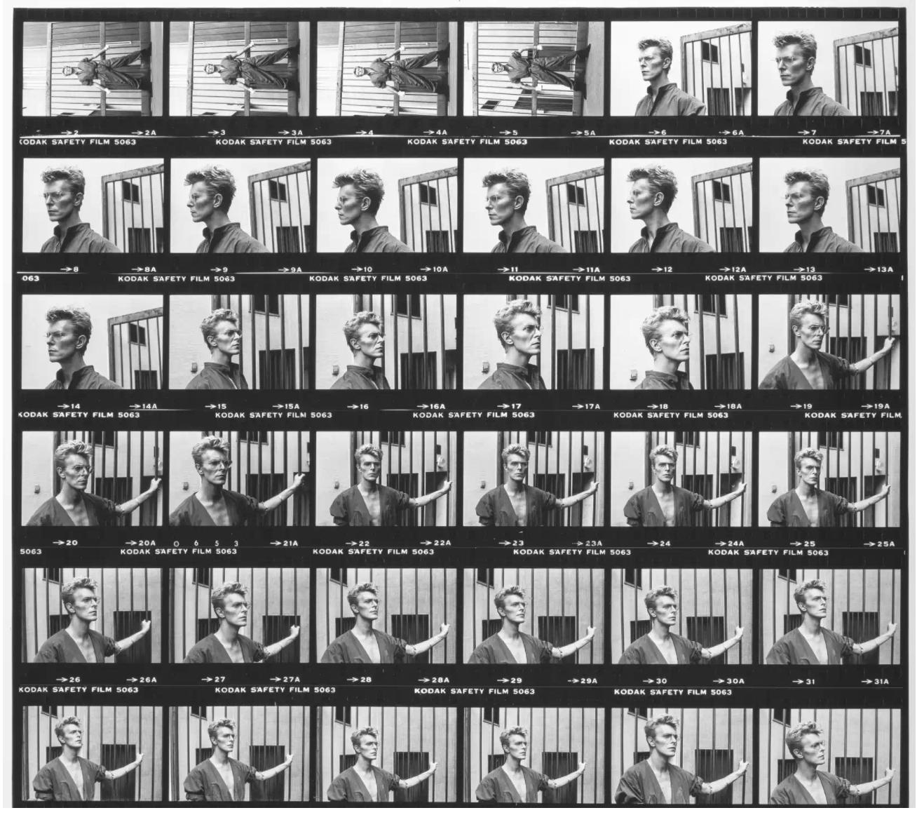 Helmut Newton - David Bowie Monte Carlo, Blown-Up Contact Sheet - Vintage Works