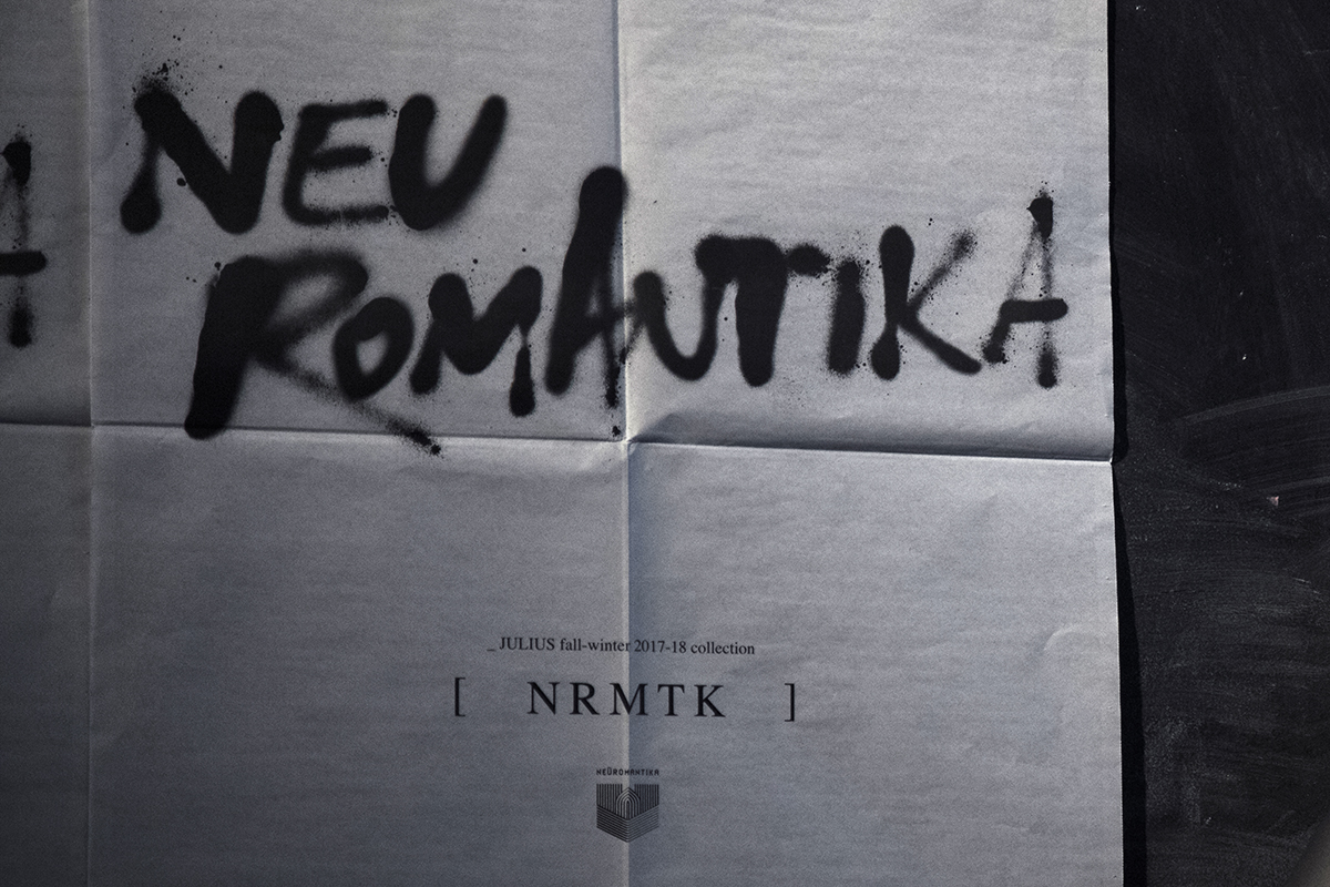 Julius Autumn/Winter 2017-2018 Neuromantika men collection showroom in Paris | Photography by Pattern Caption 7
