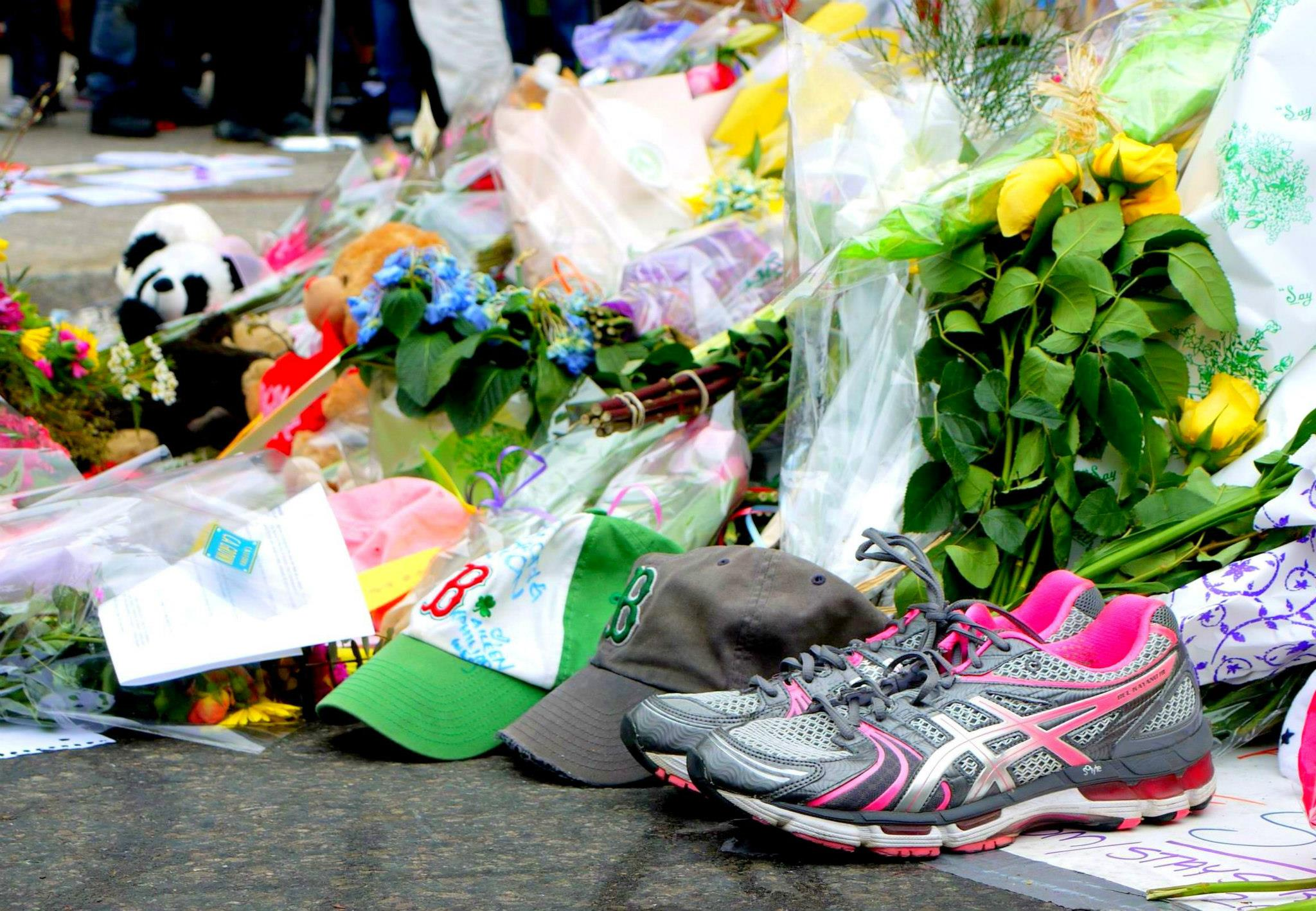 Boston Marathon 2013 |  Runner's shoes in memory and solidarity
