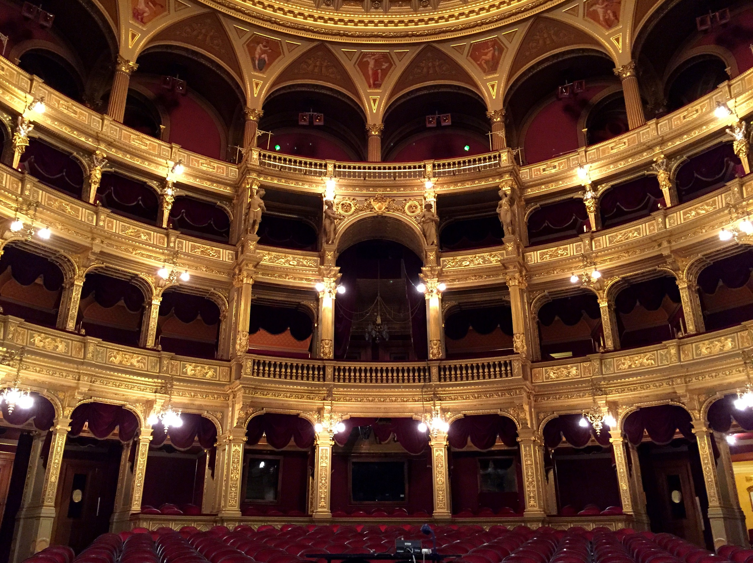 The grand Hungarian Opera House built in 1884 is the one of the world's best in terms of acoustics.