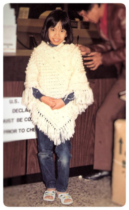 The Wearwithal, Age 8. Crochet and fringe poncho. Sassy hip.