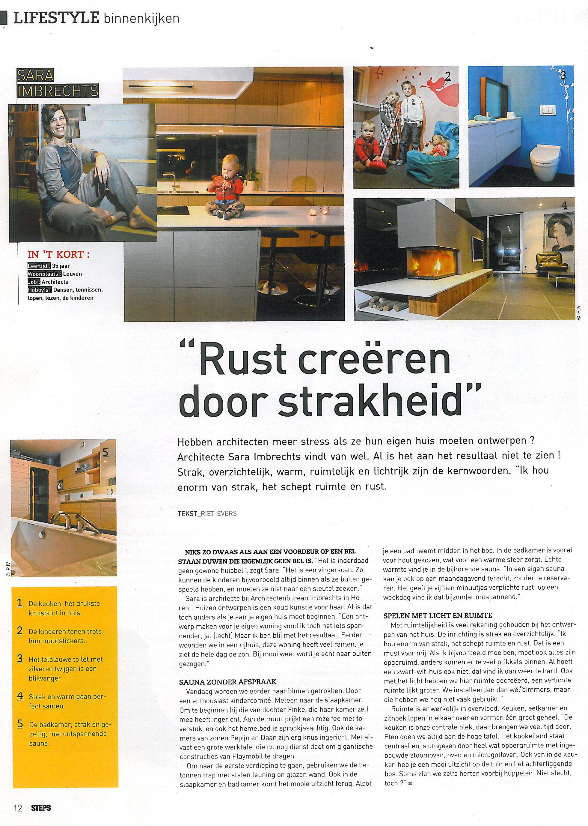Steps Magazine - Rust creëren door strakheid - 15 Februarie 2012