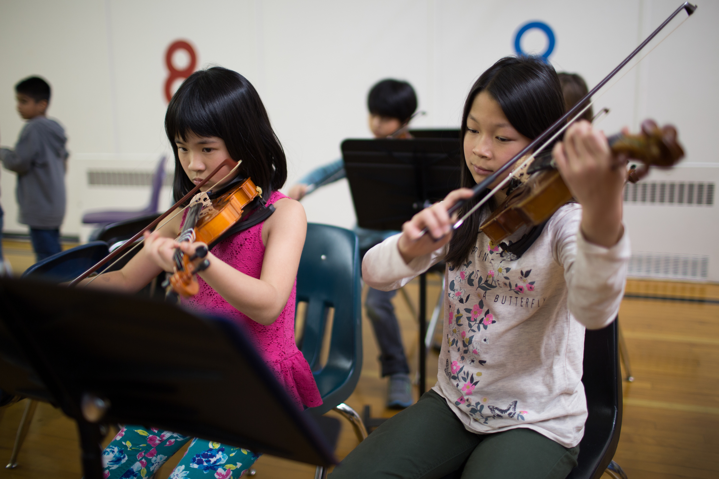 Two members of Team Oistrakh, rehearsing earlier this year.