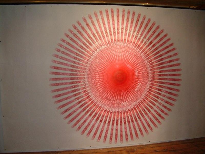 Large Red Circle, 2054 Minutes