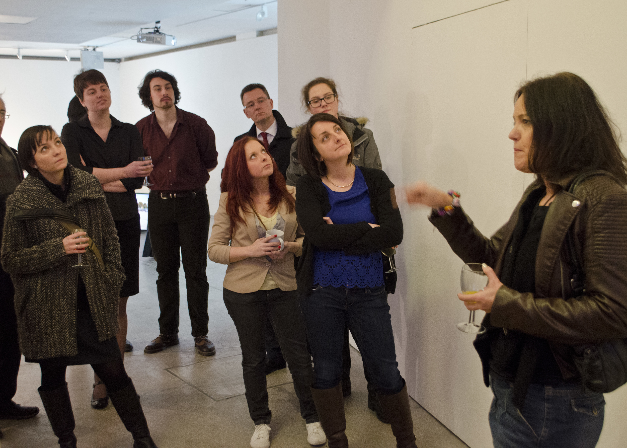 Private View Opening at Castlefield Gallery; talking about Shrinking Violet, 2759 Minutes.
