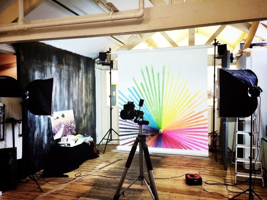 Photographing 20 Assorted Colour Inks, 3377 Minutes in Dk's studio