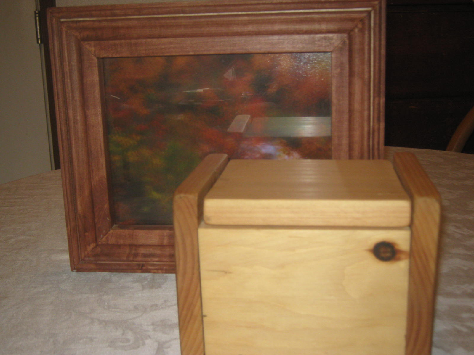Picture Frame and Small Pine Box by Khrystyana Kirton
