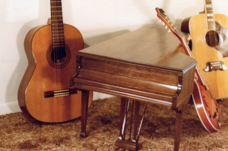 Piano style coffee table custom built by George Wurtzel for Stevie Wonder