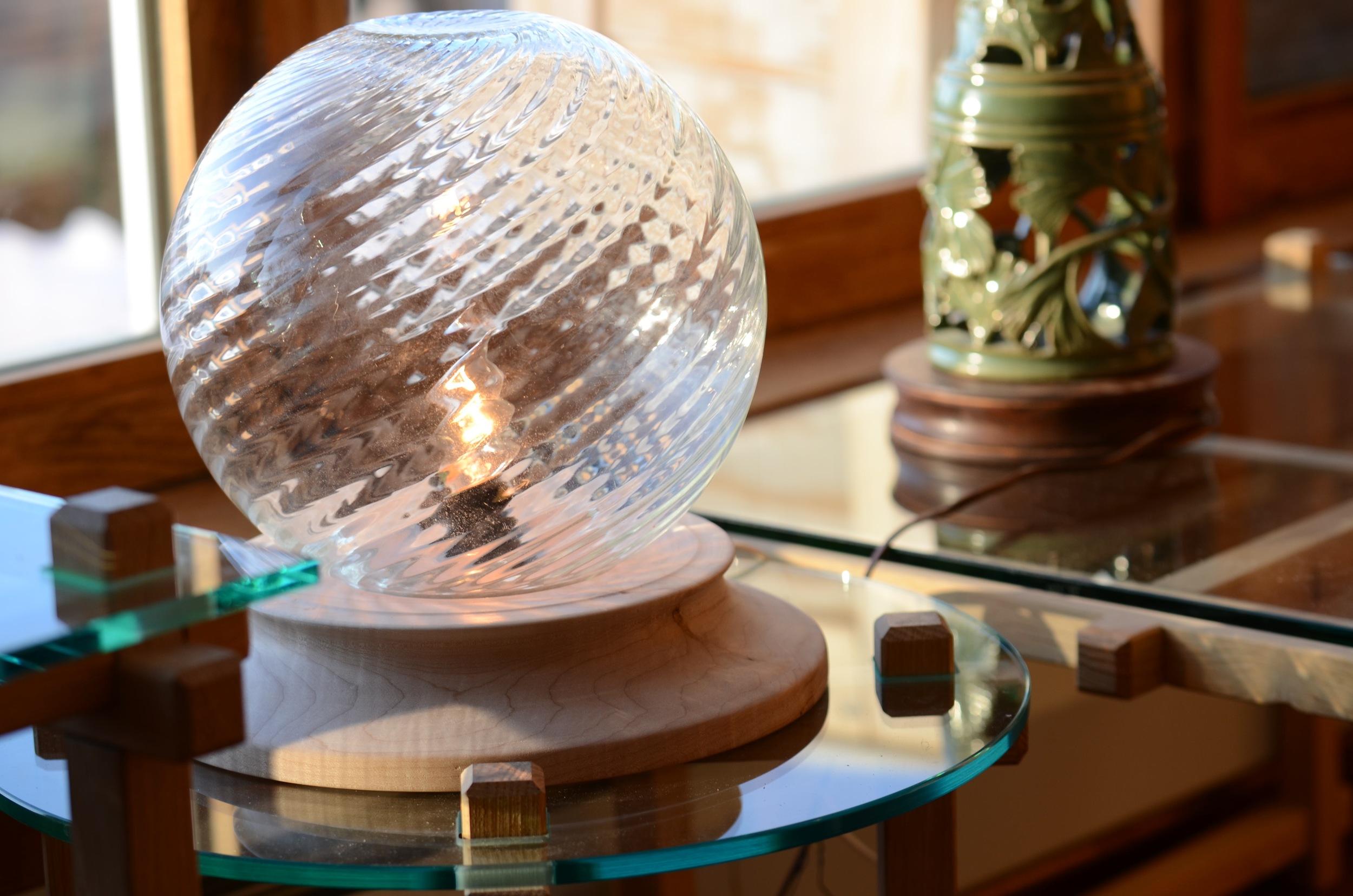 Globe lamp. Photo by Karen Kopacz.