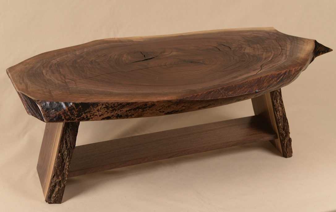 Rustic Walnut Slab Table built by George Wurtzel