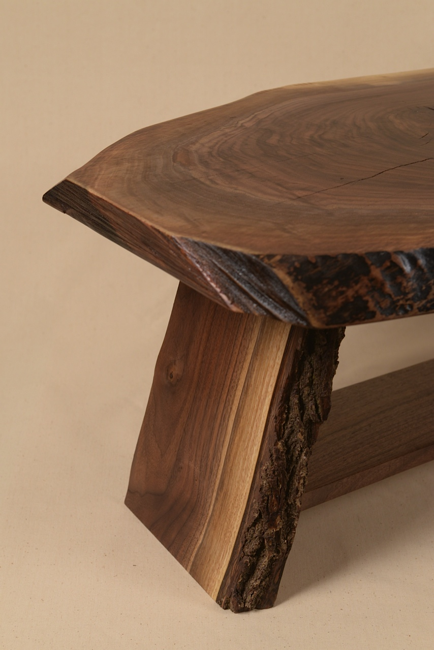 Rustic Walnut table built by George Wurtzel.  Photo by Sean Smuda.