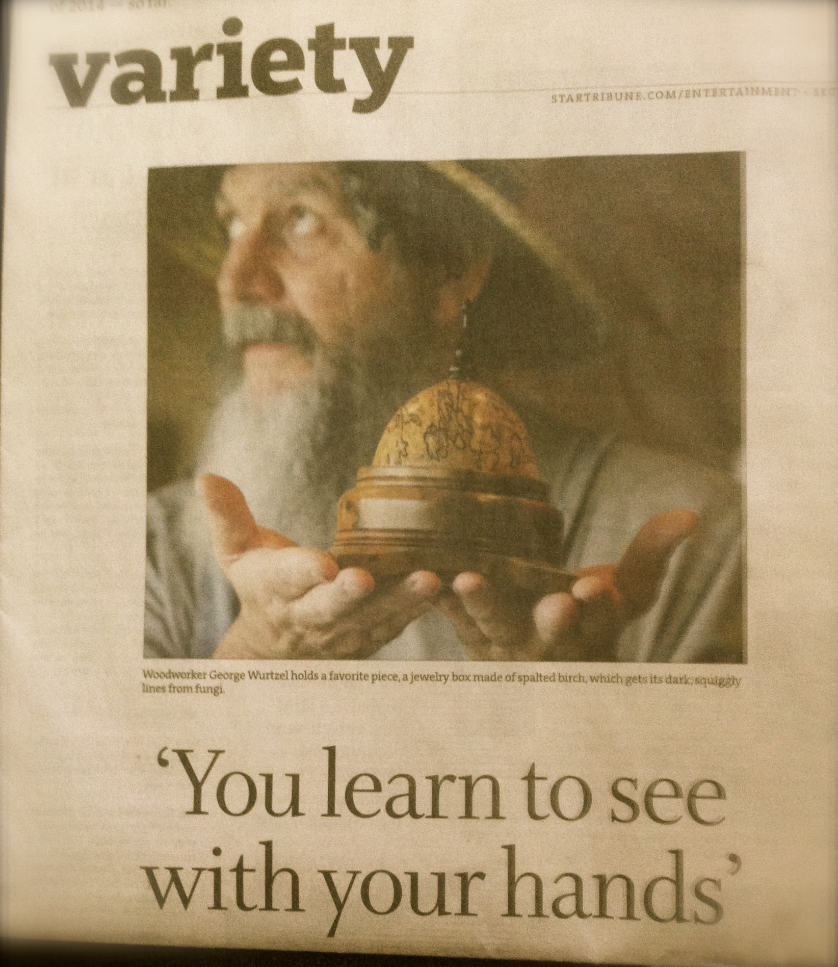 front page if variety section photo inMinneapolis Star Tribune
