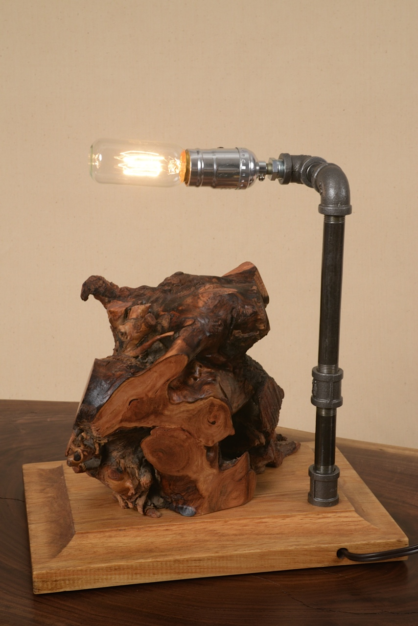 Is this the front or back? You choose. Industrial lamp made by George Wurtzel.