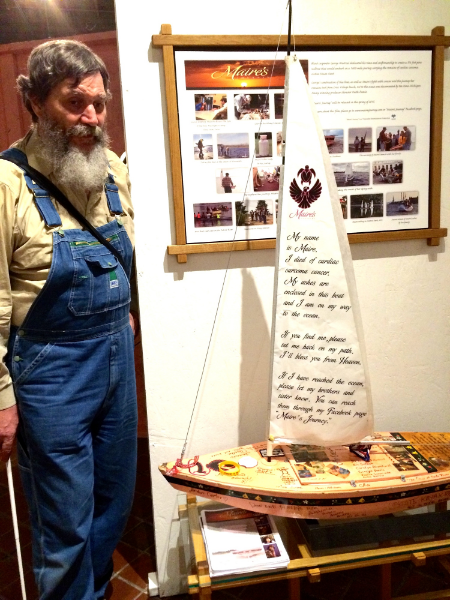 George Wurtzel and the boat he built for Maire's Journey now on display at MOCAD in Detroit
