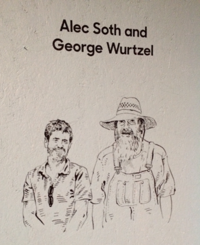 Eric Soth and George Wurtzel - Illustration on the outside of my exhibit space.  Eric Soth, was the person who collaborated with me to make this museum exhibit possible.