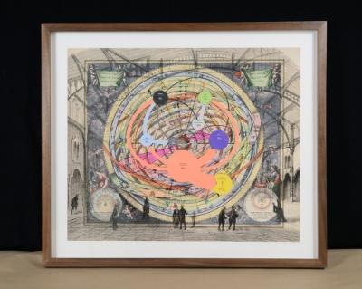 Walnut frame built by George Wurtzel for artwork by Sean Smuda. Photo Sean Smuda